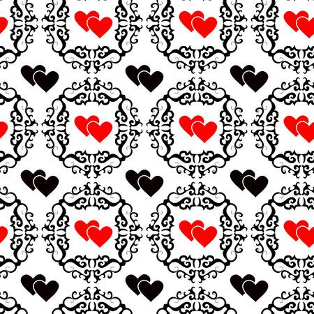 seamlessly: Senza soluzione di vettore ornamento sfondo valentine con il cuore