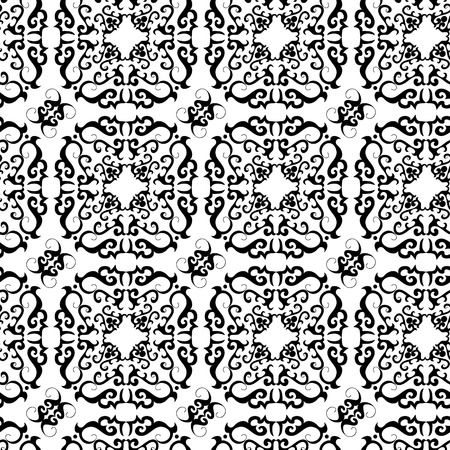 Seamless black ornament vector pattern Stock Vector - 2307992