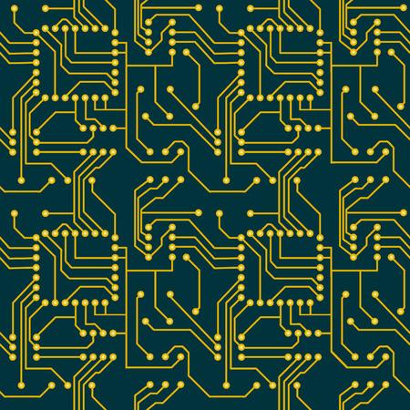 Computer matherboard, seamless vector wallpaper Stock Vector - 2308011