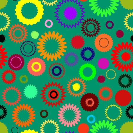 Seamless vector texture with abstract circles Vector