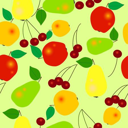 Fruits - seamless vector wallpaper Stock Vector - 2378608
