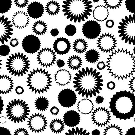 Seamless vector texture with abstract circles on white Stock Vector - 2378615