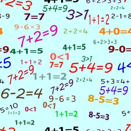 Seamlessly vector wallpaper funny mathematics Vector