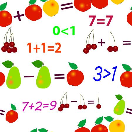 seamlessly: Perfettamente vettoriale wallpaper frutta matematica  Vettoriali