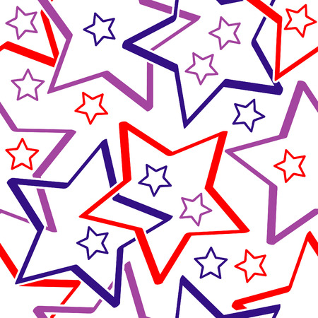 Seamless vector texture with stars Stock Vector - 2378606