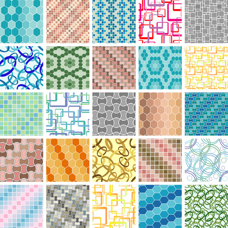 Golden collection of seamless retro wallpapers Stock Vector - 2378642