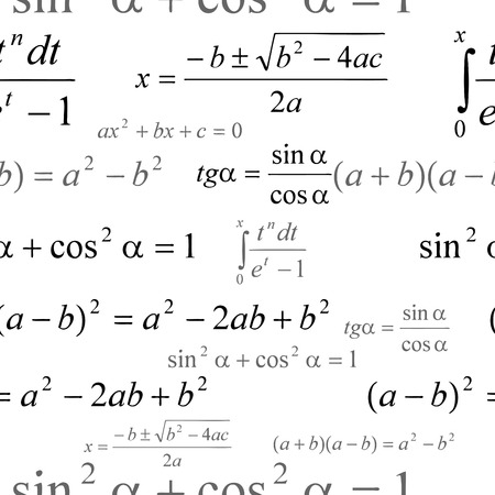 Seamlessly vector wallpaper mathematics on white Vector