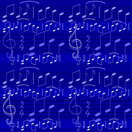 ample: Seamless wallpaper with music notes Illustration