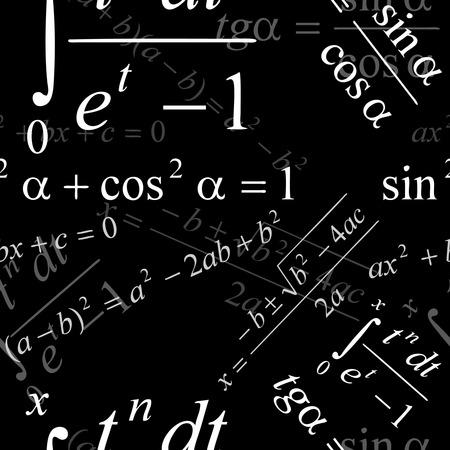 Seamlessly vector wallpaper mathematics on black Stock Vector - 2384881