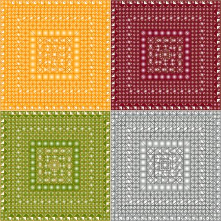 aurum: Metal vector textures. Four colours patterns