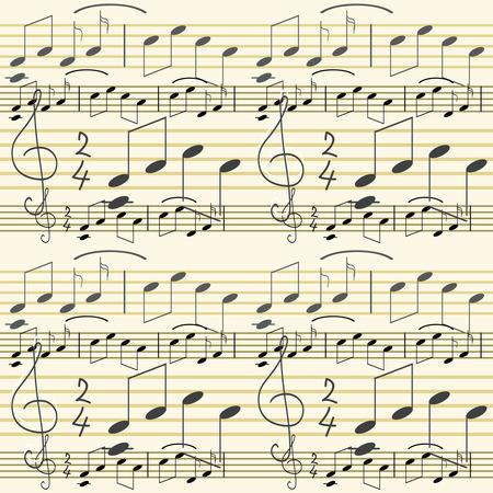 seamlessly: Senza soluzione di carta da parati con note musicali