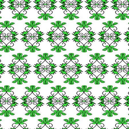 seamlessly: Seamless black floral vector pattern