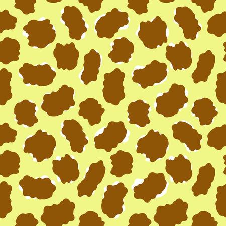 Giraffe or leopard - seamless vector wallpaper Vector