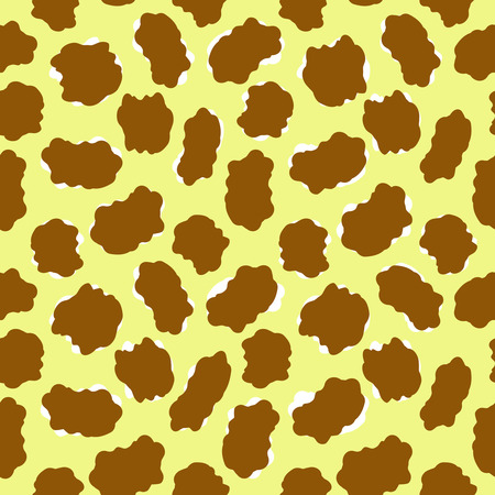 fell: Giraffe or leopard - seamless vector wallpaper