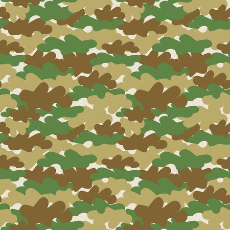 Seamless vector camouflage green pattern Vector