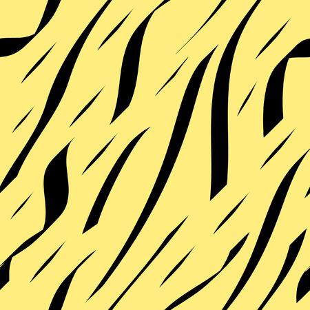 fell: Abstract zebra fell. Seamless vector wallpaper Illustration