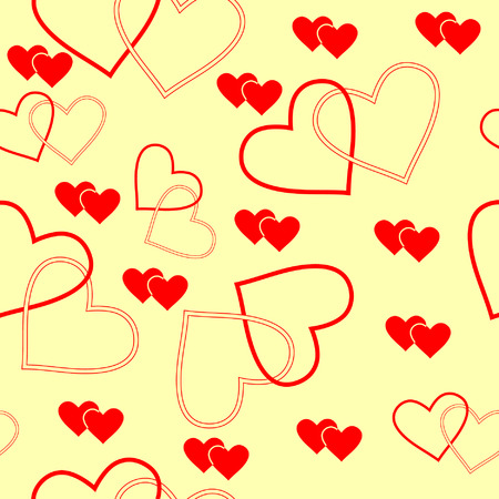 seamlessly: Senza soluzione di vettore wallpaper valentine con il cuore