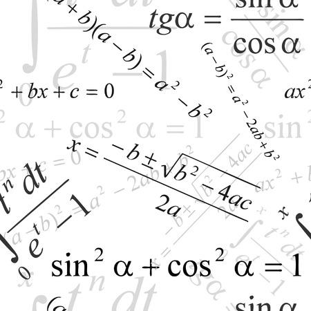 seamlessly: Senza soluzione di matematica vettoriale su sfondo bianco  Vettoriali