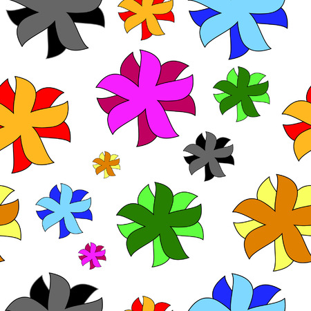 Vivid, colorful, repeating floral background Vector