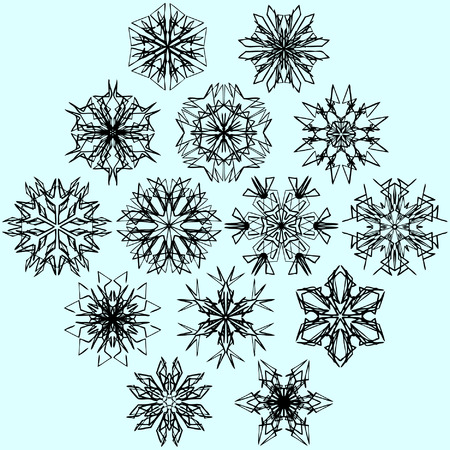 Vector snowflakes on blue Vector