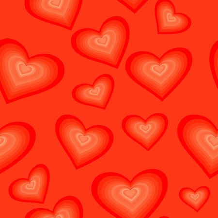 fondness: Seamlessly vector wallpaper valentine with hearts