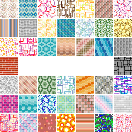 Golden collection of seamless wallpapers. Volume 3 Vector