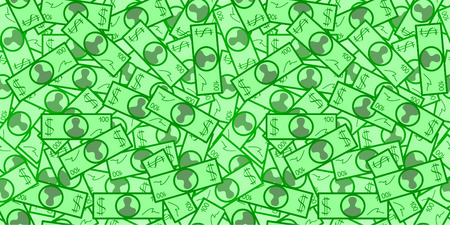 profusion: Seamless vector wallpaper with paper dollars Illustration