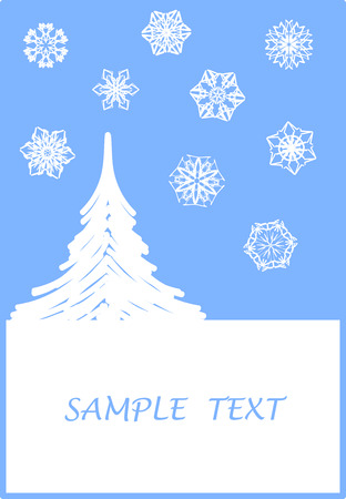 greetingcard: Surreal snowflakes design