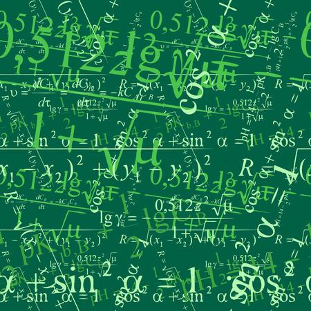 seamlessly: Matematica della carta da parati di vettore di Seamlessly sulla lavagna Vettoriali