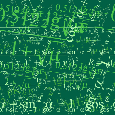 Seamlessly vector wallpaper mathematics on blackboard Stock Vector - 2496641