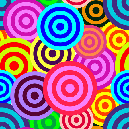 Retro vivid seamless circle background Vector