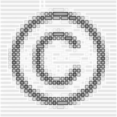 Art 3d copyright logo on white