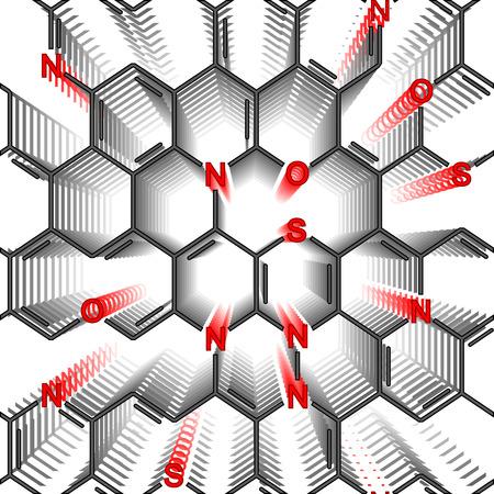 seamlessly: Polimero eterociclico chimico. Carta da parati di Seamlessly su bianco
