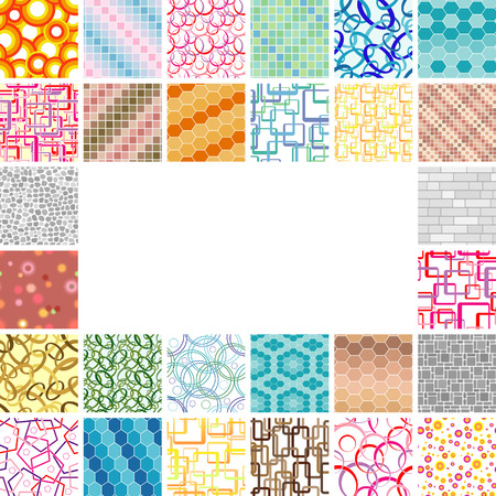 Golden collection of seamless wallpapers. Volume 4 Vector