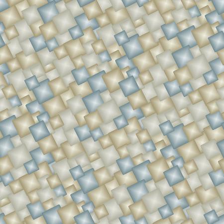 Neutral 3d tiles - seamless vector pattern Vector