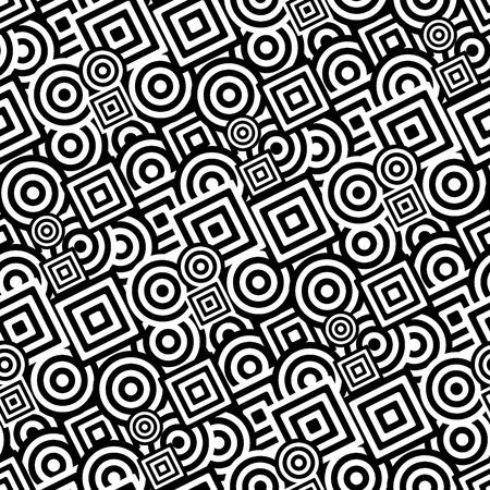 Retro black and white seamless background