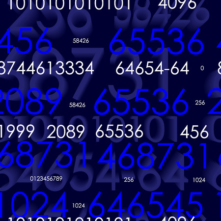 Seamless vector wallpaper with numbers Vector