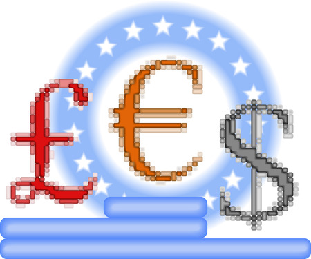 Art 3d currency opposition Vector