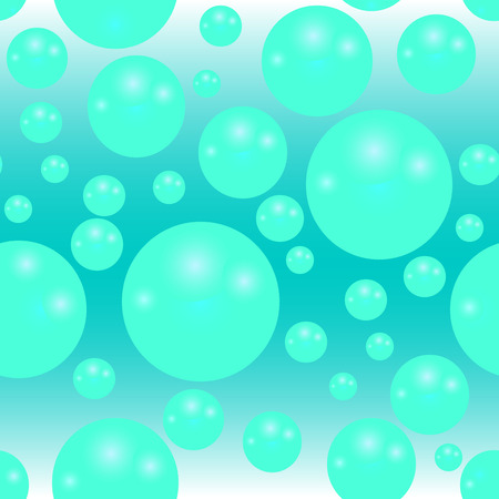 Water as seamless texture with abstract balls Vector