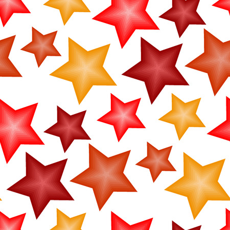 Seamless vector texture with 3d stars on white Stock Vector - 2812705