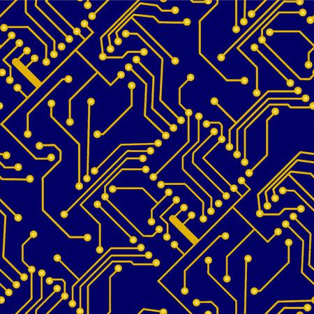 Electronic board. Seamless vector wallpaper Illustration