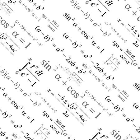 シームレスに白の壁紙数学をベクトルします。 写真素材 - 2812706