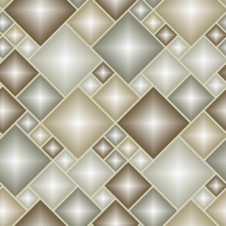 Brown 3d tiles - seamless vector pattern Vector