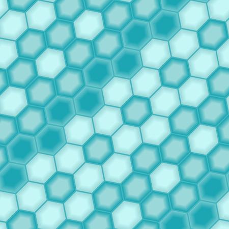 Motley 3d tiles. Seamless vector pattern Vector