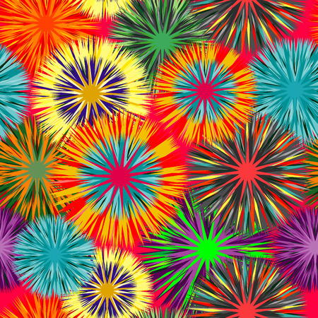 Seamless vivid cluster background Vector