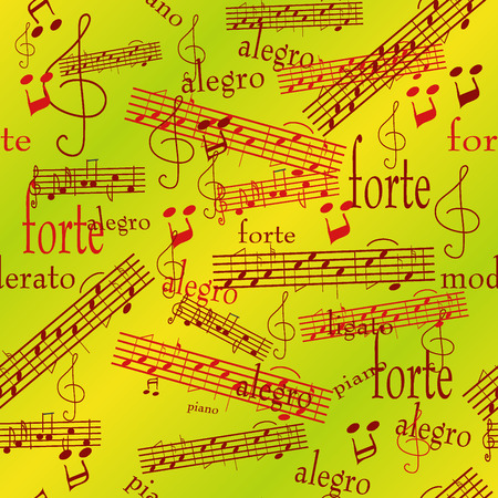 Seamless wallpaper with music notes Vector