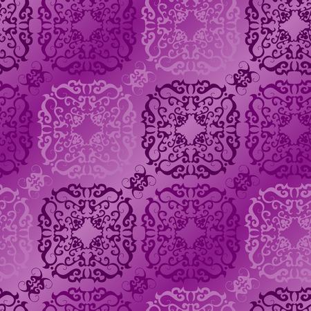 Seamless violet ornament vector pattern Illustration