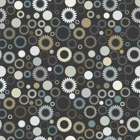 Retro seamless gear background Vector