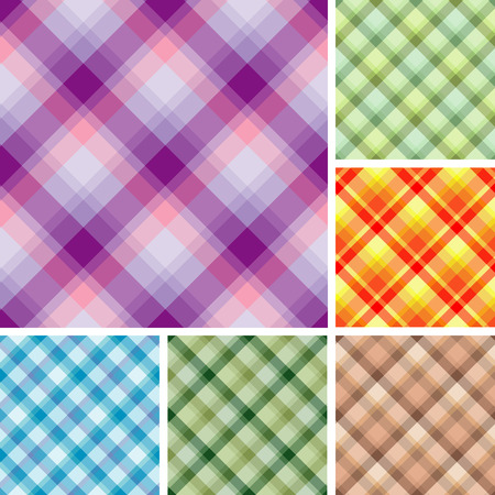 Collection of plaid. Seamless pattern Vector