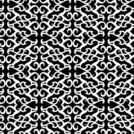 Seamless black and white ornament vector pattern Vector